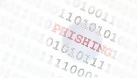计算机phishing的病毒 免版税库存图片