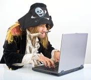 计算机pirat 库存照片