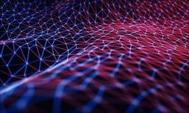 计算的云彩/神经网络 向量例证