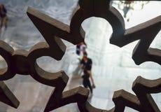 计算的操刀的片段在二楼上在圣索非亚大教堂 库存图片