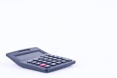 计算的数字认为的会计计算器提供经费给对被隔绝的白色背景的业务计算 免版税库存照片