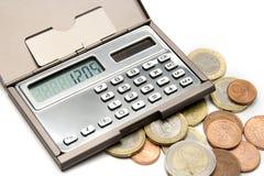 计算的概念货币 库存图片