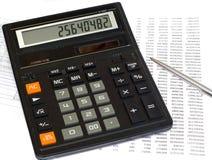 计算税务 图库摄影