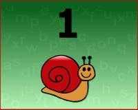 计算蜗牛 免版税库存图片