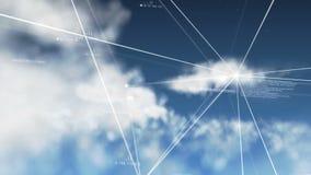 计算Loopable的云彩 皇族释放例证