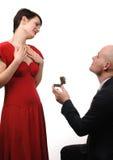 订婚。 库存照片