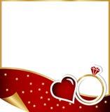 订婚卡片-圣诞节概念 库存图片
