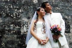 订婚和婚礼,婚礼夫妇 库存图片