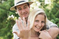 订婚夫妇 免版税库存照片