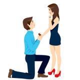 订婚建议惊奇 库存图片