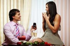 订婚建议  免版税库存照片
