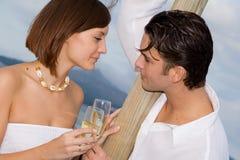 订婚愉快的当事人 免版税库存照片