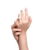 订婚现有量环形 免版税库存照片