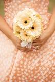 订婚花束特写镜头 库存图片