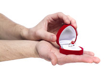 订婚递藏品人环形s 库存照片