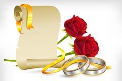 订婚邀请 库存图片