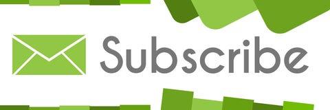 订阅绿色抽象形状 免版税库存图片