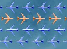 认为与小组的区别和方向概念飞机 库存图片