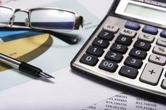 认为和财务 免版税库存照片