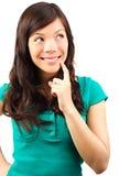认为的妇女年轻人 免版税库存图片