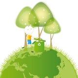 认为绿色 免版税图库摄影