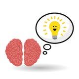 认为设计, postive和想法概念 库存照片