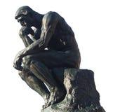 认为-思想家罗丹的人 免版税库存图片