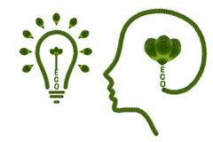 认为绿色保存地球 免版税库存图片