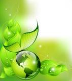 认为绿色概念:环境和自然抽象构成 免版税库存照片