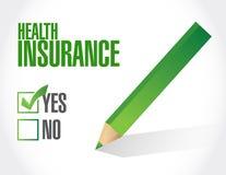 认同标志健康保险检查  库存图片