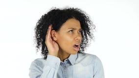 认真听的黑人妇女 股票录像