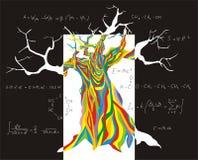 认知结构树 免版税库存照片