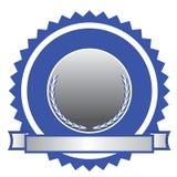 认证象征徽标 库存图片