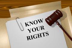 认识您的权利概念 免版税库存图片