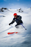 讨便宜者的滑雪者 免版税图库摄影
