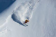 讨便宜者的滑雪倾斜 免版税库存图片