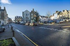 讨债者的镇中心, berwickshire,苏格兰 免版税库存图片