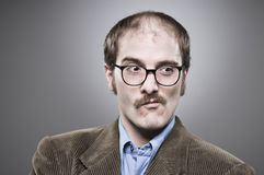 讨厌的教授Portrait 免版税库存图片