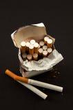 讨厌的香烟开张装箱 库存图片
