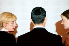 讨论电子表格小组 免版税库存图片