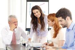 讨论的商业会议人 免版税库存图片