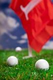让作用高尔夫球一回合! 库存图片