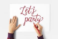 让党庆祝场合词概念 库存照片