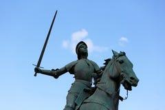 让娜d弧(圣贞德)的老纪念碑 库存图片
