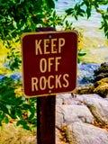 让开岩石 库存图片