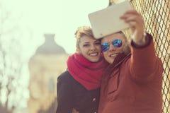 让我采取selfie 免版税库存照片