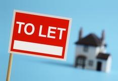让标志的房地产开发商 免版税库存照片