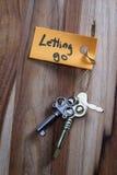 让的秘密钥匙去生活 免版税库存照片