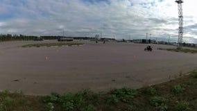 训练场摩托车, Moto运动会在夏天 影视素材