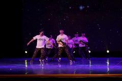 训练队伍中国民间民间舞 库存照片